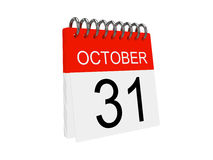 Calendar icon on the white background. Halloween Royalty Free Stock Photos