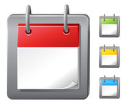 Calendar icons. Empty calendar icons set (vector Royalty Free Stock Images