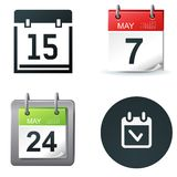 Calendar icons royalty free illustration