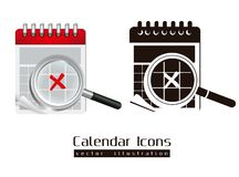Calendar icons Royalty Free Stock Photo