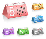 Calendar icons Royalty Free Stock Photography