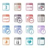 Calendar Icons Stock Photography