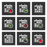 Calendar Icons. Events, Progress, Delivery Royalty Free Stock Image