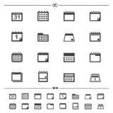 Calendar icons Royalty Free Stock Photos