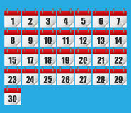 Calendar icons. Isolated on background. Vector illustration. Eps 10 Royalty Free Stock Photography