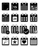 Calendar icons set Royalty Free Stock Photography
