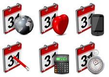 Calendar icons set Royalty Free Stock Image