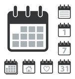 Calendar Icons Set Stock Images