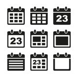 Calendar icons set. Day calendar elements icons set. Vector. EPS8 Stock Illustration