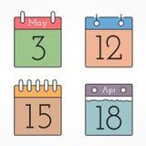 Calendar Icons Royalty Free Stock Image