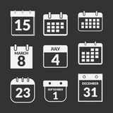 Calendar icons set. Schedule app sign collection Royalty Free Stock Image