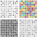 100 calendar icons set vector variant. 100 calendar icons set vector in 4 variant for any web design isolated on white Royalty Free Stock Image