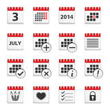 Calendar Icons. Set of calendar icons on white background royalty free illustration