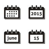 Calendar icons Stock Image