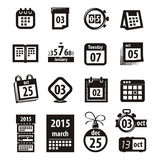 Calendar icons. Vector format Stock Image