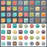 Calendar icons vector Royalty Free Stock Images