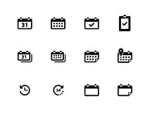 Calendar icons on white background. Vector illustration Royalty Free Stock Images