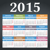 2015 Calendar. Illustratiob of new year 2015 calendar Royalty Free Stock Photography
