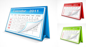 Calendar illustration. A set of 2011 calendar illustrations Royalty Free Stock Photo