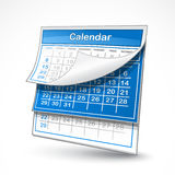 Calendar illustration Stock Photography