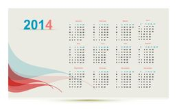 Calendar. For 2014, illustration royalty free illustration