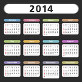 2014 Calendar. Illustration of a 2014 Calendar Stock Photography