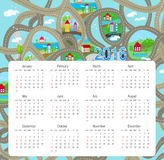 2016 Calendar - illustration. Abstract calendar. Print Royalty Free Stock Photo