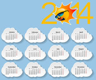 Calendar 2014. Royalty Free Stock Photo