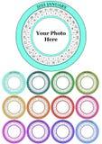 2015 calendar. Illustration of 2015 colorful round calendar set Stock Images