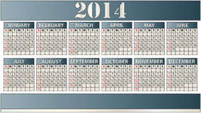 2014 calendar. Illustration of elegant 2014 calendar stock illustration
