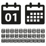 Calendar illustration. Calendar month simple vector illustration Royalty Free Stock Images