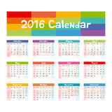 2016 Calendar - illustration vector kids hand made Stock Photo