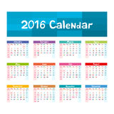 2016 Calendar - illustration vector kids hand made. Art royalty free illustration