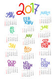 2017 Calendar Stock Images