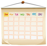 A calendar. Illustration of a calendar on a white background Royalty Free Stock Images