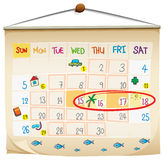 A calendar. Illustration of a calendar on a white background Royalty Free Stock Image