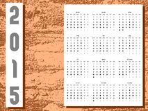 Artistic colorful Calendar. Illustrazion representing a calendar about year 2015, but usable also for similar years (as you may know, our calendars are repeated Royalty Free Stock Photo