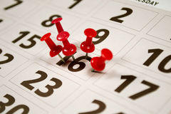Calendar. Important date or concept for busy day being overworked Royalty Free Stock Photography