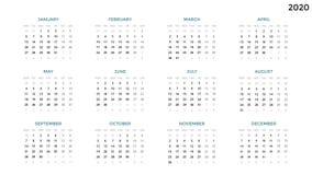 Calendar infographic, диаграмма таблицы, диаграмма представления Концепция периода дела Диспетчер задач Неделя, месяц 2020 год Стоковая Фотография RF