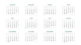 Calendar infographic, table chart, presentation chart. Business period concept. Task manager. Week, month. 2019 year. Circle arrows diagram for graph infographic Royalty Free Stock Photo