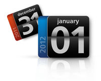 Calendar isolated 2011-2012. This is an illustration concept of 2012 new years eve Stock Photo