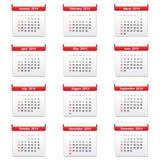Calendar 2014. Isolated on white background Stock Photography