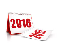Calendar 2016 and 2015 isolated. Calendar 2016 and 2015 in white color Stock Images