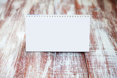 Calendar 2016. Isolated on a wooden background Royalty Free Stock Photo
