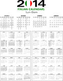 Calendar 2014 Italian. Royalty Free Stock Photography