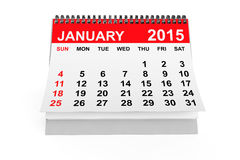 Calendar January 2015. 2015 year calendar. January calendar on a white background royalty free illustration