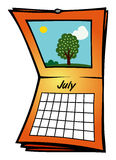 Calendar July Stock Images