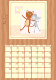 Calendar of July 2012.  Royalty Free Stock Image