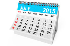 Calendar July 2015 Stock Images