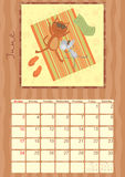 Calendar for June 2012.  Stock Images